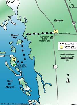 estero river florida map
